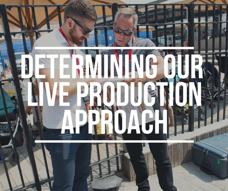 Determining Our Live Production Approach