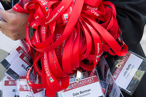 Red Production Crew Lanyards